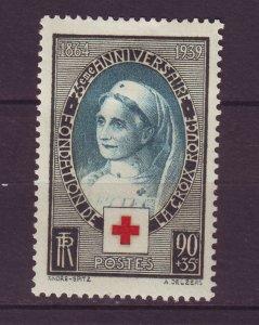 J24622 JLstamps 1939 france set of 1 mh #b81 red cross nurse