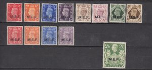 J26372  jlstamps 1942-3 great britain middle east africa mlh #1-9 +10-3 ovpt,s