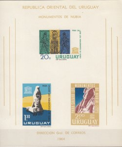 Uruguay, Sc C267a, MNH, 1964, Submerged Statue of Ramses II