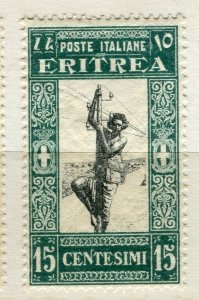 ITALY; ERITREA 1930 early pictorial issue Mint hinged 15c. value
