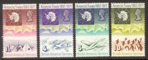 British Antarctic Territory Sc#  39-42 MNH Antarctic Treaty