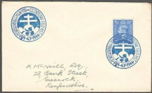 GB 1944 Czechoslovakia Field PO in GB cover, ...............................D904