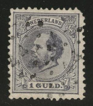 Netherlands Scott 32 used 1888 CV$40