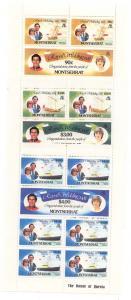 Montserrat - 1981 Royal Wedding Princess Diana Sheets
