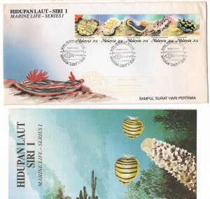 Malaysia Scott 386 strip set on FDC with brochure enclosed