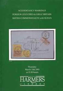 Auction Catalogue - Sudan - Harmers 11 Mar 1993 - incl pa...