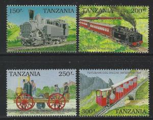 Tanzania 1990 Cog Railways set Sc# 658-65 NH