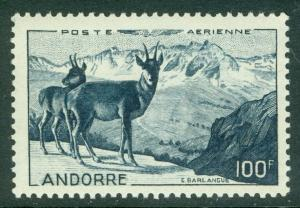 FRENCH ANDORRA : 1950. Yvert #A1 Animals. Very Fine, Mint NH. Catalog €106.00.
