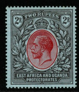 KENYA, UGANDA & TANGANYIKA SG54 1912 2r RED & BLACK/BLUE MTD MINT