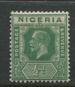 Nigeria -Scott 18 - KGV Definitive -1921 - MVLH - Single 1/2p Stamp