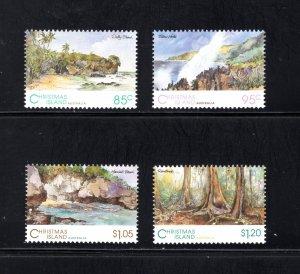Christmas Island 350-353,  VF, MNH, CV $8.60 .... 1370067/101/102/103