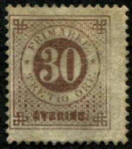 Sweden SC# 35 Numeral of value, 30o, perf 13, MH