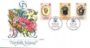 Norfolk Island 280-282 Royal Wedding Fleetwood U/A FDC