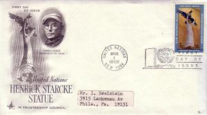 United Nations FDC Sc.# 183 Starcke Statue L440