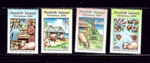 Norfolk Is 610-13 MNH 1996 Christmas