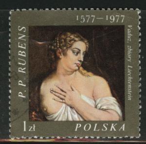 Poland Scott 2209 Used 1977  favor canceled PP Rubens ART