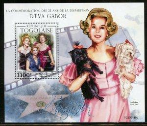 TOGO 2020  25th MEMORIAL OF  EVA GABOR SOUVENIR SHEET MINT NEVER HINGED