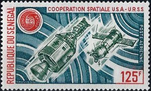 1975 Senegal Apollo-Sojus, Cooperation in Space VF/MNH! LOOK!