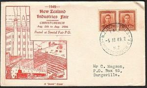 NEW ZEALAND 1949 commem cover NZ INDUSTRIES FAIR CHRISTCHURCH..............73539