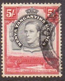 Kenya Uganda and Tanganyika 1938 used George VI  5s.   #