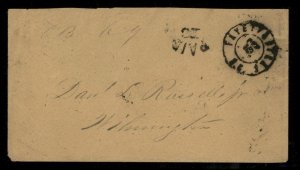 CSA Fayetteville NC Carolina Civil War Confederate Stampless Paid 10 Cover 92868