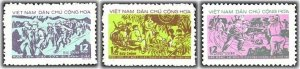 Vietnam 1973 MNH Stamps Scott 710-712 Communist Youth Soldiers Education Army
