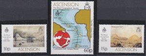 Ascension 266-268 MNH (1980)
