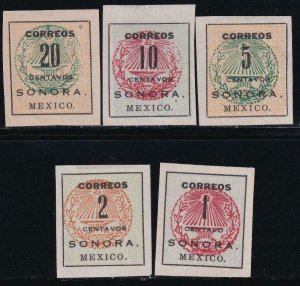 Mexico 1914 SC 402-409 LH