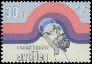 1972 Netherlands Antilles #B119-B121, Complete Set(3), Never Hinged
