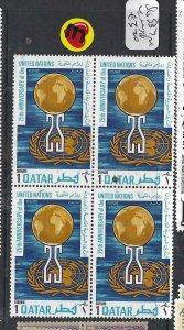QATAR (PP25060B)  UN  SG 337  BL OF 4  MNH