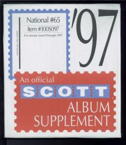 1997 National #65 Scott Stamp Album Collection Supplement Pages Item #100S097