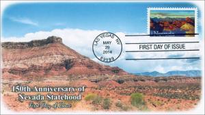 14-093, 2014 Nevada Statehood, FDC, SC 4907