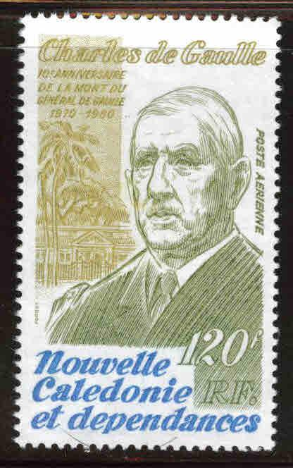 New Caledonia (NCE) Scott C168 MNH** 1980 Charles de Gaulle stamp