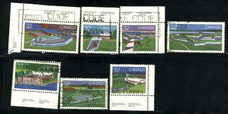 Can #983,986-90,992   used VF 1983 PD