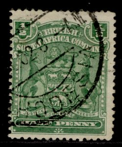 RHODESIA QV SG75a, ½d yellow green, FINE USED.