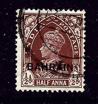 Bahrain 21 Used 1938 KGVI overprint issue