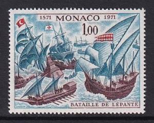 Monaco  #824    MNH  1972  battle of Lepanto