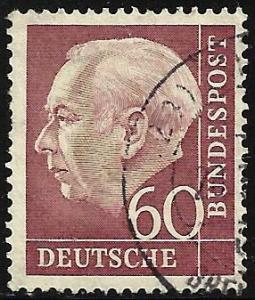Germany 1954 Scott # 715 Used