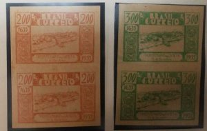 O) 1939 BRAZIL, PROOF IMPERFORATE, VIEW OF CAMETA -FOUNDING FROM 1635 -SCT 419