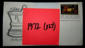 FDCs - 1972 COMMEM YEAR SET - x27 - see photo