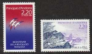 Andorra-French - 1989 - SC 370-71 - VLH