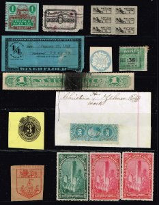 US STAMP BOB, REVENUE, MIXED STAMPS COLLECTION LOT