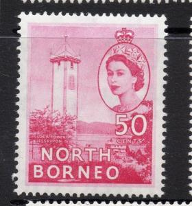 North Borneo 1954 QEII Early Issue Fine Mint Hinged 50c. 225340