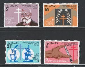 Bahamas 1982 TB Bacillus Centenary Scott # 505 - 508 MNH