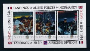 [81036] Nevis 2011 Second World war D-day Landing Normandy Sheet MNH