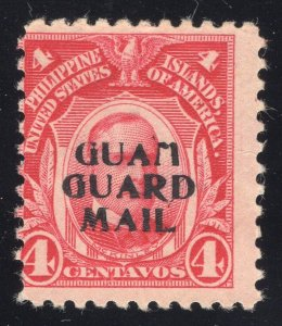 Guam# M2 4 Cents, Carmine - Guam Guard Mail - Unused - No Gum - Cat:225.00