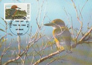 Micronesia 1990 Maxicard Sc #106 10c Micronesian kingfisher WWF