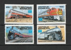 Antigua & Barbuda MNH 934-7 Trains AMERIPEX '84 SCV 8.00