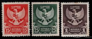 Indonesia Scott 359-361 MH* Arms of the Republic set  CV15$