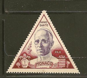 Monaco 263 Pope Pius XII Triangle Mint Hinged